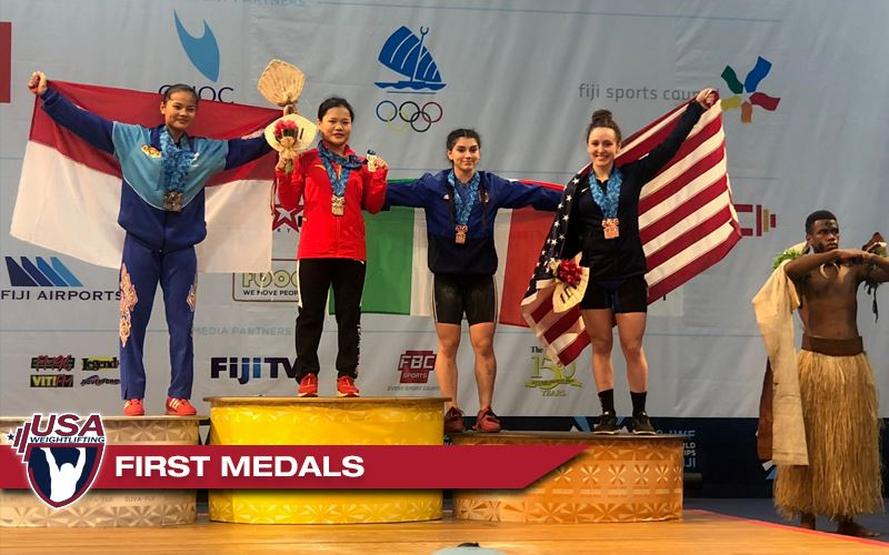 Hayley Reichardt, SV Grad, won two bronze medals in total and the clean and jerk at Junior Worlds